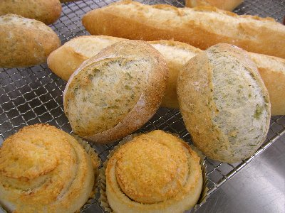 フランスパン三種